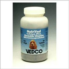 NutriVed Calcium Plus Chewable Vitamins For Dogs - 60 Tablets >>> You can get more details by clicking on the image.