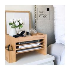 Bedside organizer: 15 cute jewelry and bedside organizers you need to make getting ready so much easier #bridesmaidsgifts #willyoubemybridesmaid #frombride #uniquebridemaidgifts #bridesmaidthankyou #luxurybridesmaidsgifts Rental House Decorating, Apartment Decorating For Couples, Wood Nightstand, Floating Nightstand, Bedside Organizer, Cute Desk Accessories, Wood Office Desk, Scrapbook Storage, Essentials