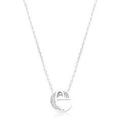 Initial E Crystal Pendant