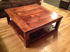 Handmade coffee table, find it on etsy! Bitandpiecescreation. https://www.etsy.com/listing/188755354/rustic-coffee-table?ref=shop_home_active_2