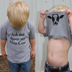 Moo Cow Tee – Iza Marie Bella Fun surprise cow shirt - online fashion and clothing for little boys and little girls - cow shirt - funny cow shirt