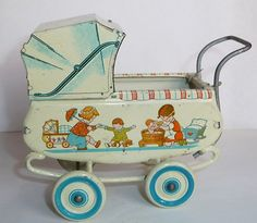 RARE Old Litho Tin Toy Baby Carriage Ges Gesch w Doll Turtle Germany 1930'S. Learn about your collectibles, antiques, valuables, and vintage items from licensed appraisers, auctioneers, and experts. http://www.bluevaultsecure.com/roadshow-events.php BlueVault. For anything Valuable.