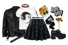 """""""Deth Kult Clothing Co"""" by evastyles7 ❤ liked on Polyvore featuring VIPARO, Chicwish, Wolford, Saddlers Union, John Lewis, Hannah Makes Things, Macabre Gadgets and dethkult"""