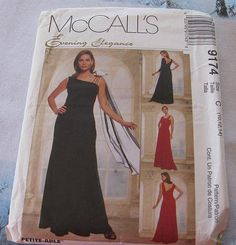 Evening Bridesmaid  Prom Gown Pattern SALE by stephaniesyarn, $8.00