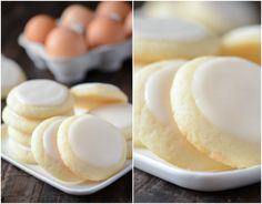Almond Meltaway Cookies 2 cups all purpose flour 1/2 teaspoon baking powder 1/4 teaspoon flaked sea salt (or can use regular table salt) 1 cup (2 sticks) unsalted butter, room temperature 3/4 cup granulated sugar 1 large egg 2 teaspoons almond extract Icing: 1 cup powdered sugar 1 tablespoon milk (or water) 2 teaspoons almond extract
