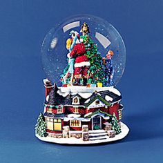 """Department 56: Products - """"Kissing Claus Waterglobe/Music Box"""" - View Accessories"""