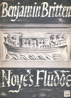 Benjamin Britten Noye's Fludde Boosey & Hawkes sheet music & words 76 pages ref040 S2-box4
