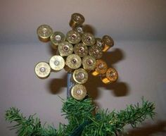 Making Christmas decorations out of spent shotshells and brass