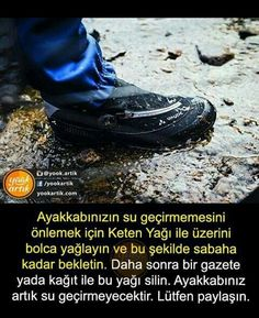 ayakkabim su geciriyorsa.... - #Asudeğer Good To Know, Did You Know, Cultural Architecture, Natural Cleaners, Interesting Information, Nature Quotes, Olay, Life Hacks, Herbs