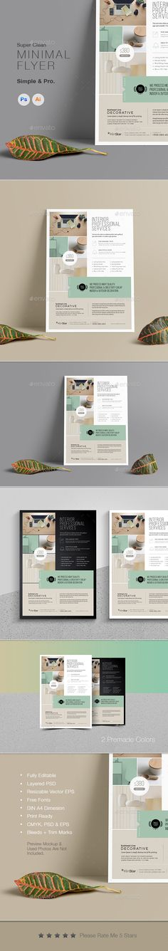 Multipurpose Minimal Clean Flyer Template PSD, Vector EPS #flyerdesign