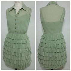 Twelve By Twelve La Ruffled Shirt Dress