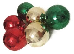 Christmas Ornaments Faceted Plastic Disco Ball by AtomicPhenomic