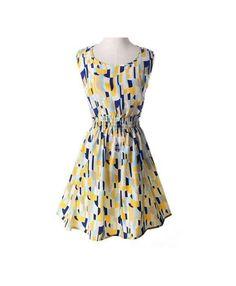 petite robe en chiffon imprimé à motifs géométriques, multicolore
