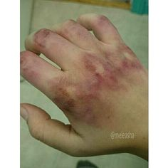 I want his hands to be bruised from beating the girl in the film