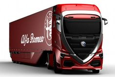 This Is Why Alfa Romeo Should Build Trucks. It'll never be made, but it doesn't look as out-of-place as you might think. Future Trucks, Future Car, Lamborghini, Bugatti, Alfa Bertone, Custom Peterbilt, Donk Cars, Luxury Sports Cars, Alfa Romeo Spider