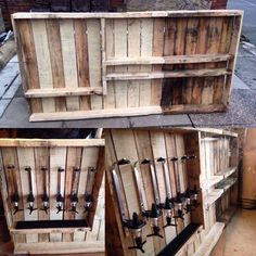 Recycle pallets.. turned into a bar.. Instagram, john_evans29
