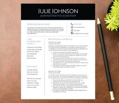 70 best resume format images on pinterest resume design template professional resume template for word a4 letter 1 2 3 page resume included cover ref cv design instant download spiritdancerdesigns Gallery