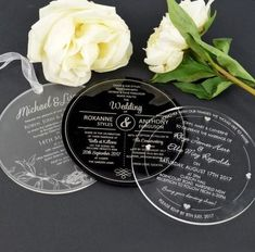 Frosted, Black and Clear Acrylic Round Wedding Invitations Acrylic Wedding Invitations, Glitter Invitations, Watercolor Wedding Invitations, Floral Wedding Invitations, Wedding Stationary, Wedding Invitation Cards, Wedding Cards, Invites, Invitations Online