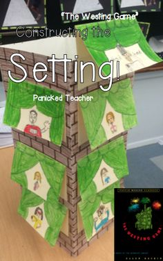 """BUILDING the setting for your novel study! We did just that while reading, """"The Westing Game!"""""""