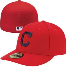 763448c0c9b Men s Cleveland Indians New Era Red Authentic Collection Low Profile Home  59FIFTY Fitted Hat
