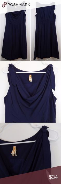 "MAEVE {Anthropologie} Dress MAEVE Dress 'Anthropologie' Navy Blue Cowl Neck Sleeveless Fit & Flare Size 8  This dress is lightweight and comfortable.   In excellent condition!!!  (Measurements laying flat) Chest: 18"" Waist: 15"" Length (top to hem): 39""  Please message me with any questions.  Check out my other items! Anthropologie Dresses"