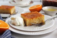 Portokalopita (Πορτοκαλόπιτα) – Taking the guesswork out of Greek cooking…one cup at a time Delicious Desserts, Dessert Recipes, Syrup Cake, Freshly Squeezed Orange Juice, Set Cookie, Greek Cooking, Walnut Cake, Caking It Up, Cake Batter