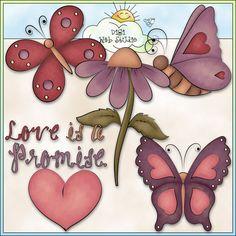 Heart Flutters 1 - NE Trina Clark Clip Art : Digi Web Studio, Clip Art, Printable Crafts & Digital Scrapbooking!