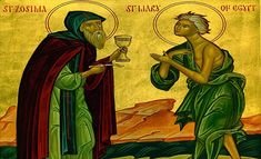Sunday Morning: Midnight Office, Matins & The Divine Liturgy. Sunday of St. Mary of Egypt. List Of Sins, Saint Antony, Lives Of The Saints, Prayer Position, Bible Dictionary, St Cuthbert, Sign Of The Cross, Eucharist, Knowing God