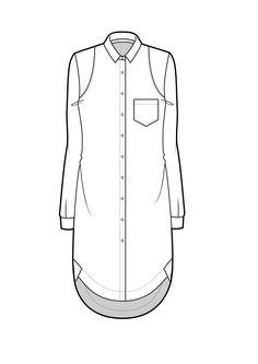 Technical Drawing on pattern skirt flats