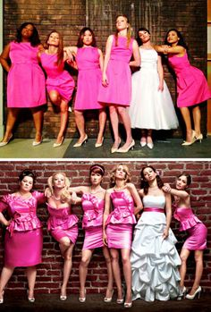 Glee Cast Recreate Bridesmaids Poster. I love this so much. (Except that it's Rachel's wedding).