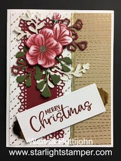 My Creative Corner!: Forever Fern, Christmas Card, October 2020 Paper Pumpkin Kit Alternative Card Gold Sheets, Dandelion Wish, Wink Of Stella, Gold Labels, Quick Cards, Paper Pumpkin, Small Flowers, Craft Items, Hostess Gifts