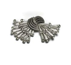 Vintage Rhinestone Brooch Rope Strands Trifari by EclecticVintager, $15.00