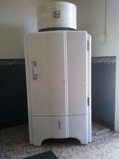 1937 General Electric Refrigerator Art Deco Style Art