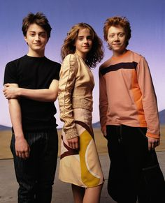 Harry, Hermione and Ron!