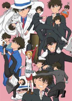 Conan Comics, Detektif Conan, Magic Kaito, Kaito Kuroba, Kaito Kid, Detective Conan Wallpapers, Kudo Shinichi, Durarara, Shounen Ai