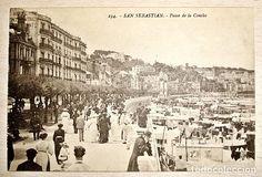 TARJETA POSTAL SAN SEBASTIAN - AÑOS 20 - LA CONCHA (Fotografía Antigua - Tarjeta Postal)