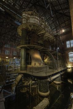 Titan of industry (by odin's_raven) Huge steam engine in abandoned waterworks - New Jersey