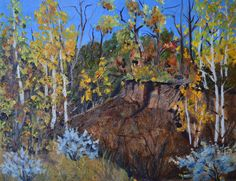 Original oil painting, oil painting landscape, landscape oil painting, fall aspen trees, autumn landscape, fall landscape, fine art painting by TerriRobertsonArt on Etsy