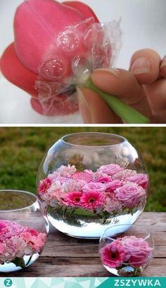Zobacz zdjęcie folia bąbelkowa, żeby kwiatki nie tonęły:) w pełnej rozdzielczości