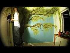 How to Paint a Fresco Mural with Stencil Kit by Cutting Edge Stencils. DIY decor ideas. - YouTube