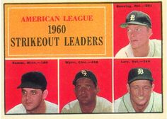 Jim Bunning and Frank Lary - AL Strikeout Leaders Card 1961 - Topps  Card Number: 50