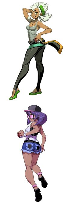 The Professor and her assistant from sun and moon... Pokemon girls
