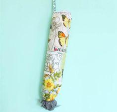 """Gina Michele: diy anthropologie plastic bag holder. 9 x 19"""" for tube"""