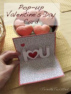 DIY Pop-Up Valentine's Day Card via Tried & Twisted