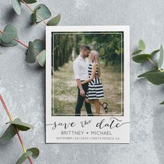 """@BizzyBeeDesign posted to Instagram: I love this minimalist postcard that features """"save the date"""" in the hand-lettering text against the bottom. This is definitely a great option for hip couples that want to keep it simple yet stylish with their save-the-dates! #zazzlemade #zazzle #bizzybee #theprofitables #weddingstationery #savethedate #savethedatecards #photocard #isaidyes #bridetobe #gettingmarried #engaged #shesaidyes #weddingplanning #engagement #weddinginspo #weddingideas #photocollage Save The Date Cards, Photo Cards, Wedding Stationery, Weddingideas, Getting Married, Hand Lettering, Dates, Wedding Planning, Minimalist"""
