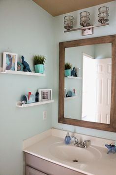 Parker's Bathroom Styling. art, cute, home decor, interior design, kid's bathroom makeover.