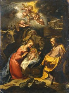 The Nativity / La Natividad // 1613-1614 // Rutilio Manetti // Museo Poldi Pezzoli // #Jesus #Christ #Christmas #Navidad #Noël #Natale