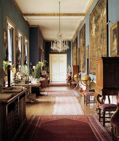 patrickhumphreys:  The Tapestry Gallery at Chatsworth. Photo by Simon Upton.