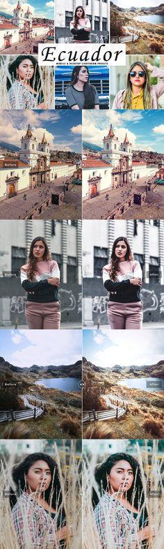 Photoshop Actions, Lightroom Presets, Cool Tones, Ecuador, Your Image, Portrait, Photography, Color, Style