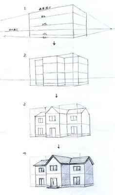 外観パースの描き方(手描きパースの描き方)   見るだけで上達する手描きパースの描き方ブログ、パース講座(手書きパース) Interior Architecture Drawing, Architecture Drawing Sketchbooks, Architecture Concept Drawings, Drawing Interior, Interior Design Sketches, Pavilion Architecture, Architecture Durable, Pavilion Design, Art Drawings Sketches Simple